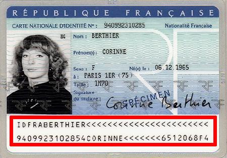 numéro national carte d identité française Comment déceler une fausse carte d'identité ?   CTMS
